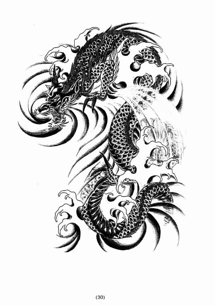 картинки тату драконов