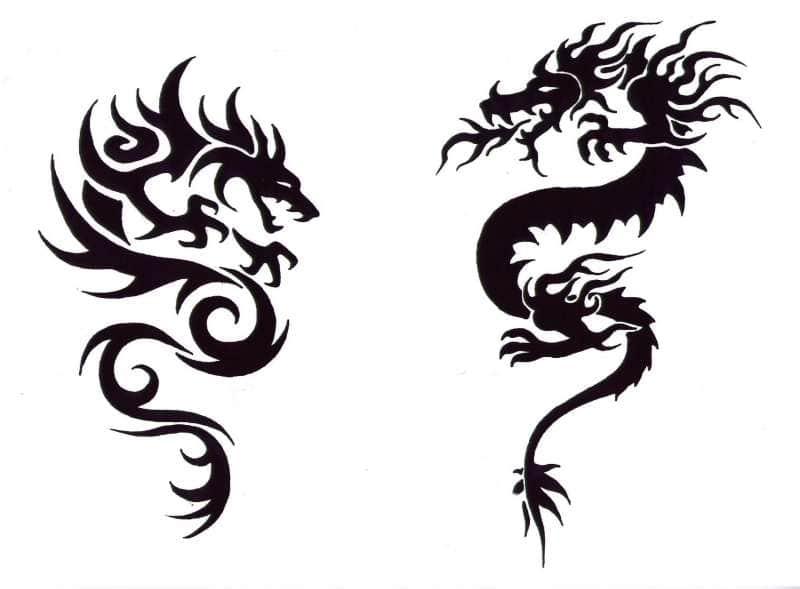 Драконы для тату 56
