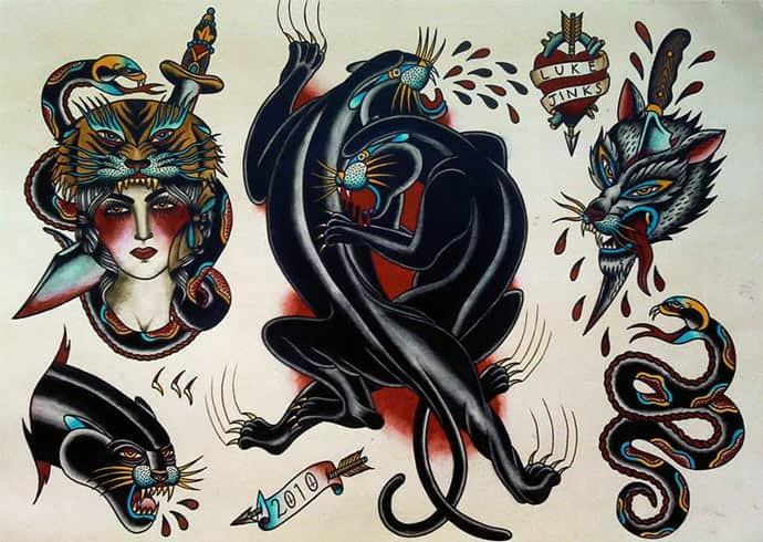 201Традиционная татуировки
