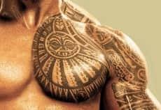 Тату полинезия орнамент