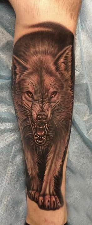 Маленькие тату волка 94