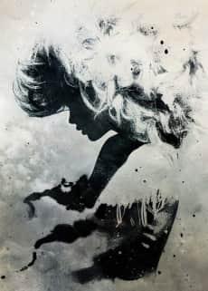 Девушка облака в стиле треш полька