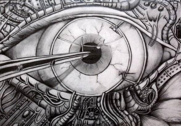 Глаз в стиле биомеханика