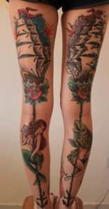 фото татуировки олд скул на ногах