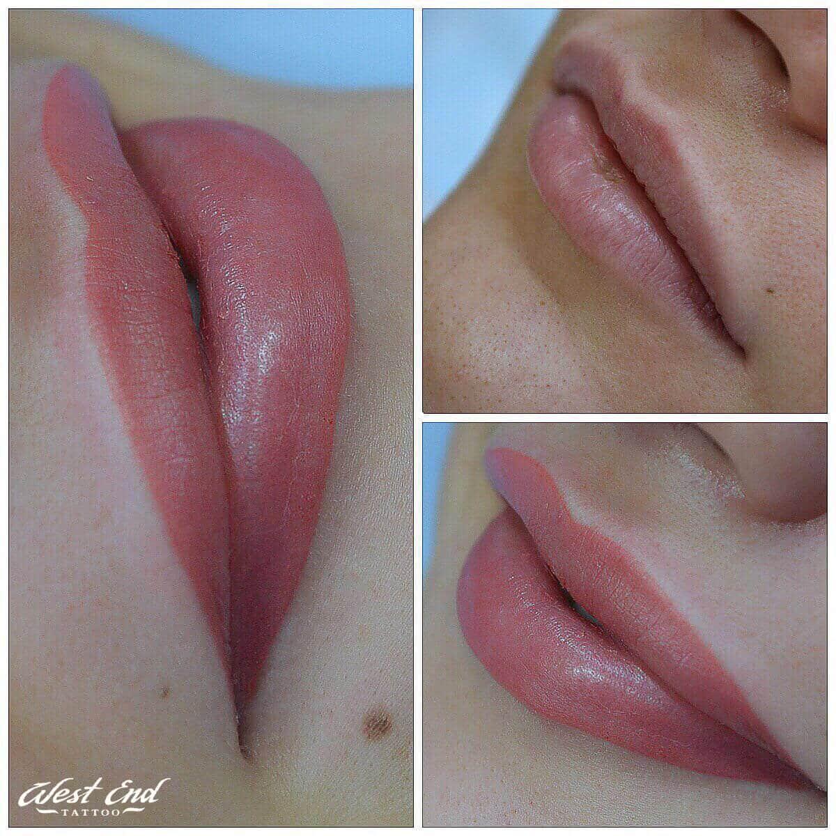 Заживление перманентного макияжа губ
