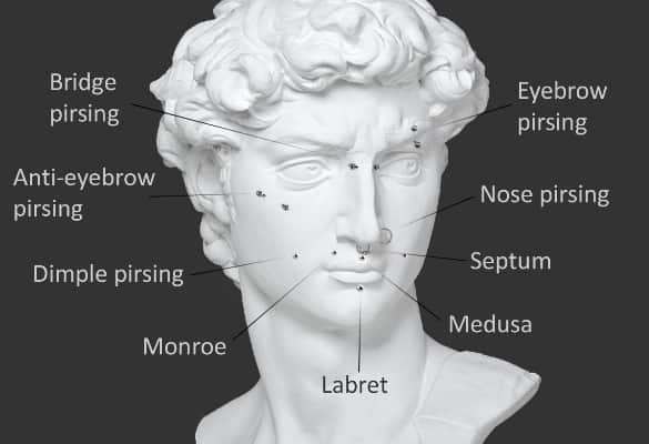 Пирсинг на лице