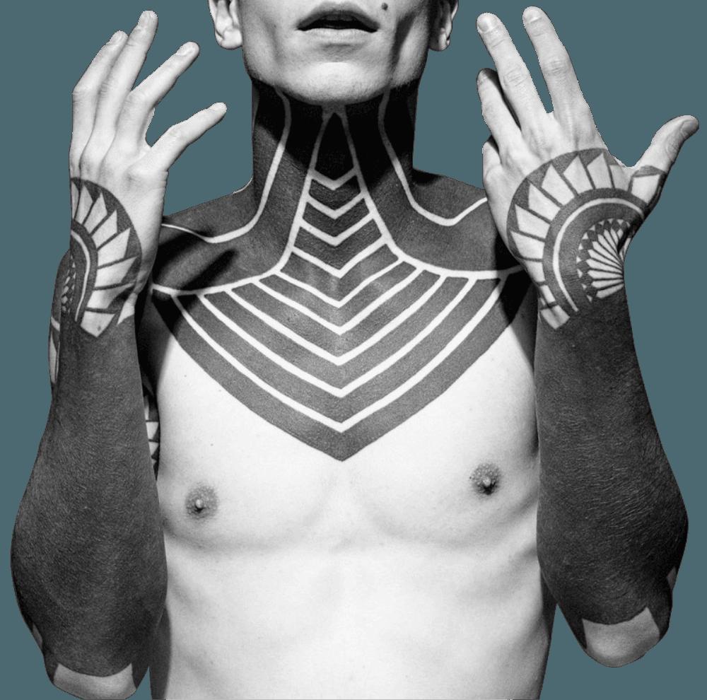 Татуировки для мужчин в стиле дотворк
