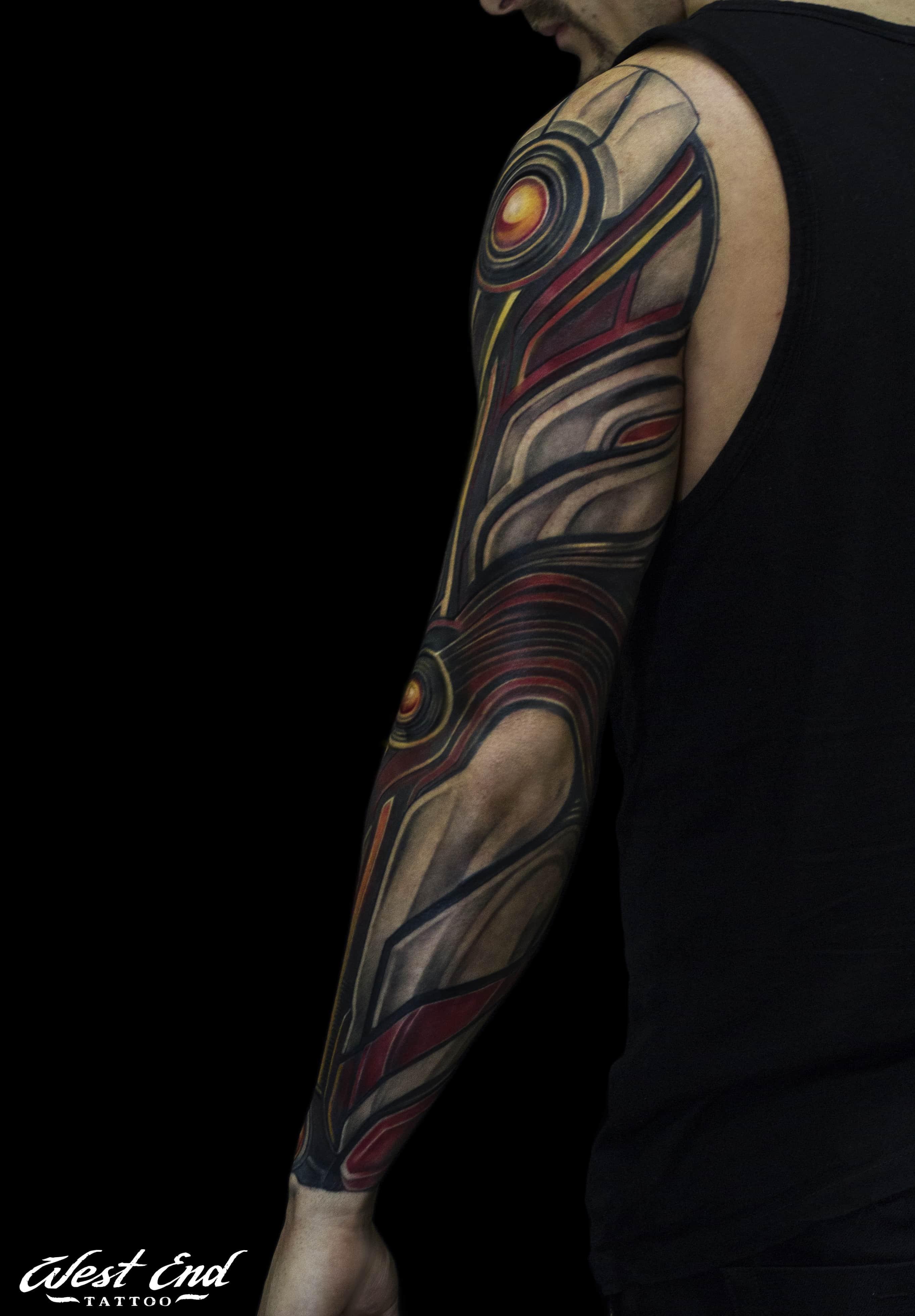Цветное тату орнамент на руке