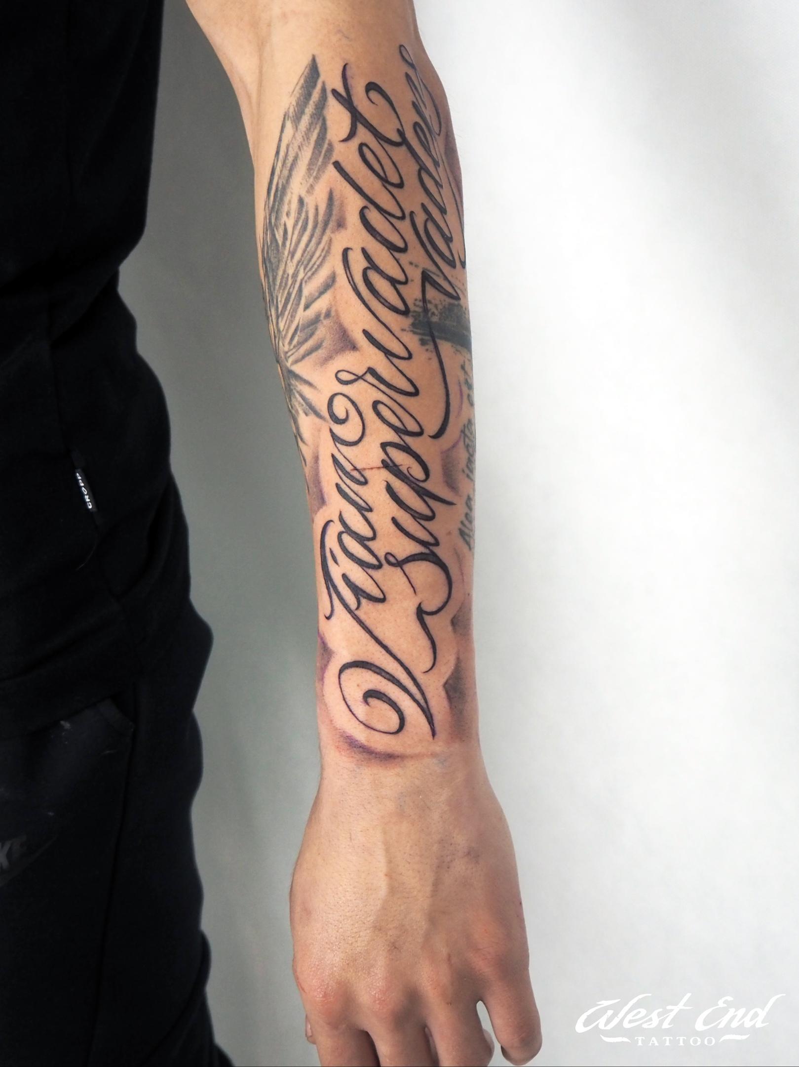 Тату леттеринг надпись красивая мужская женская тату