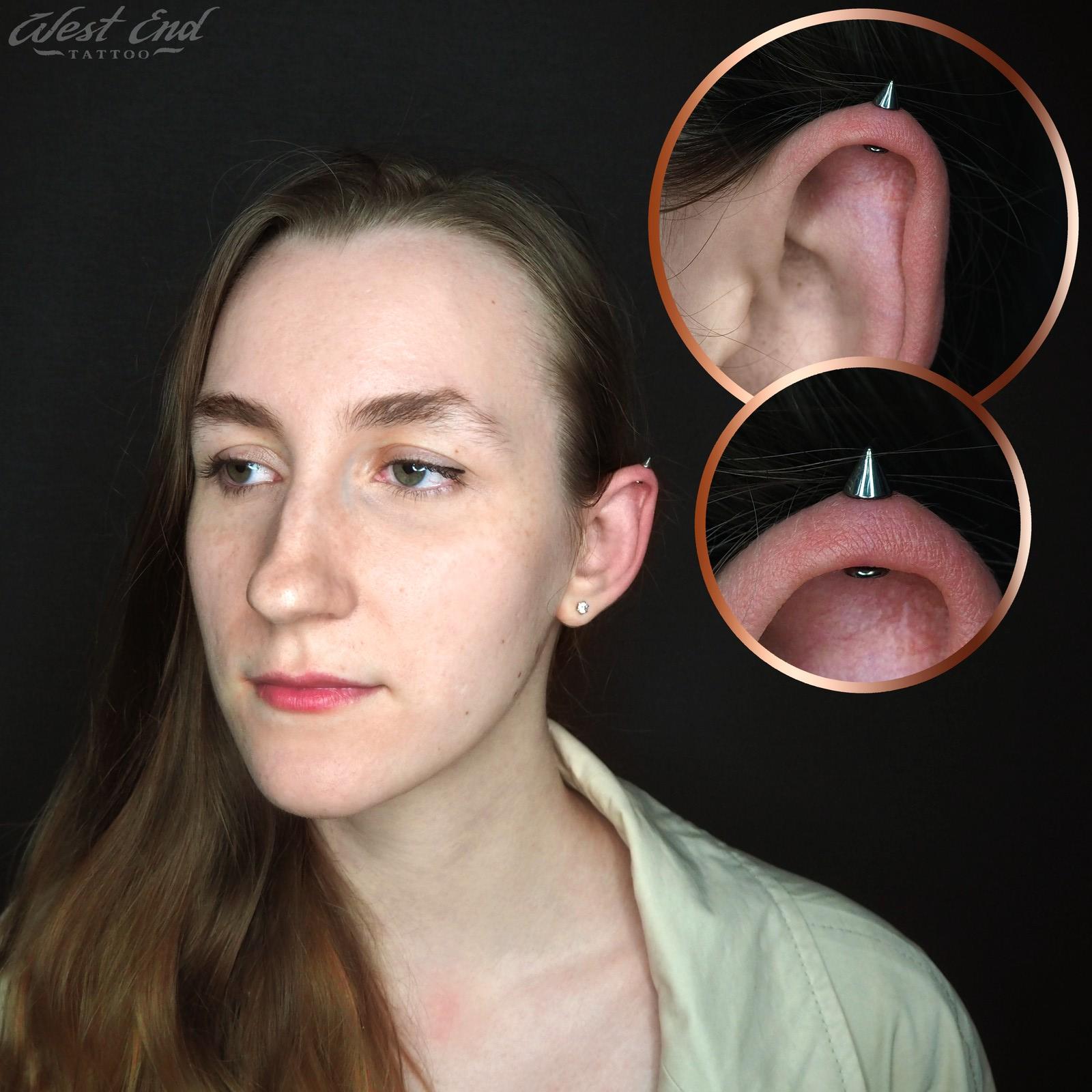 Пирсинг хряща уха