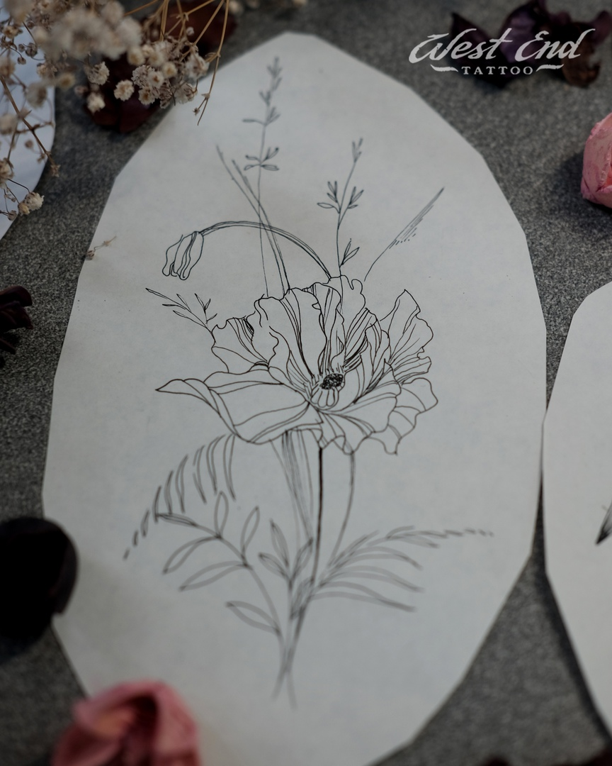 Эскиз цветок графика