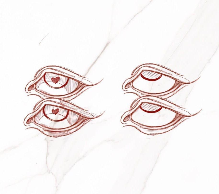 Эскиз глаз графика