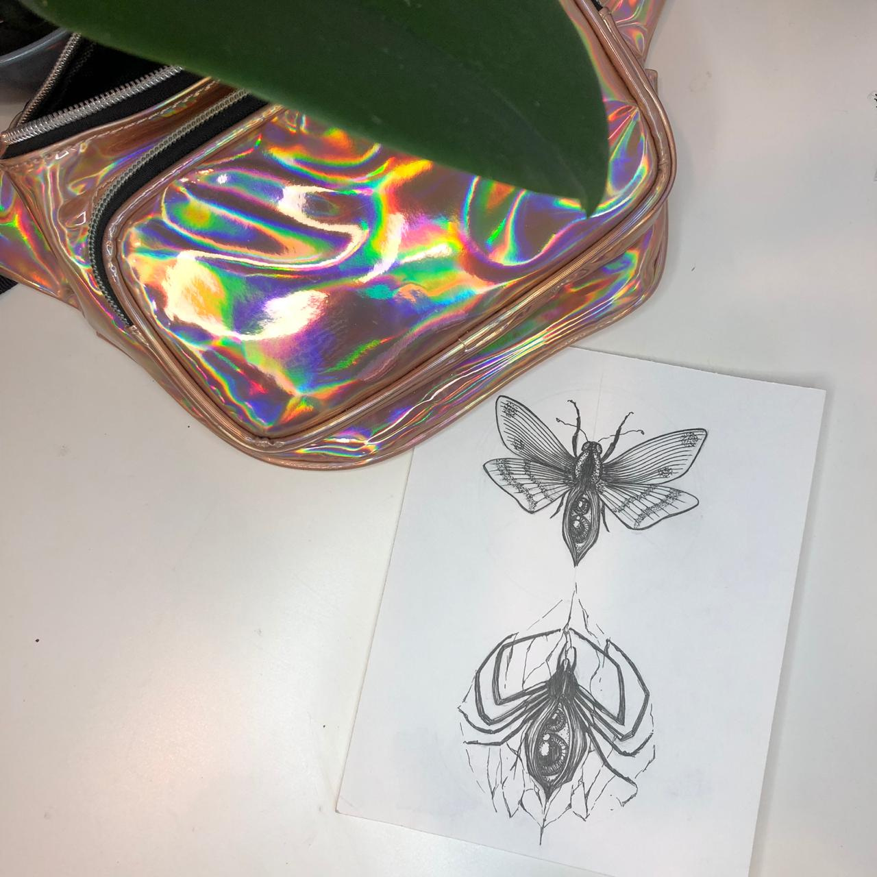 Эскиз насекомые графика