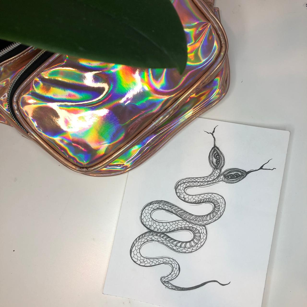 Эскиз двуглавая змея графика