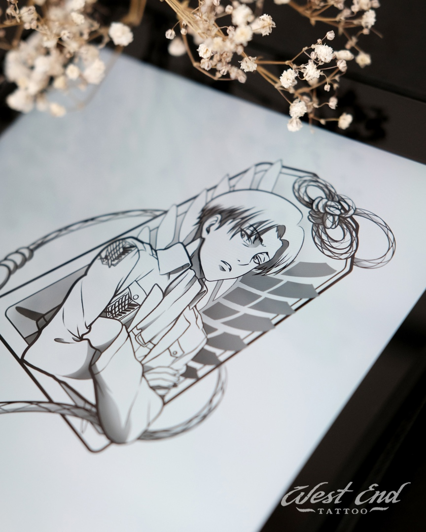 Эскиз аниме графика